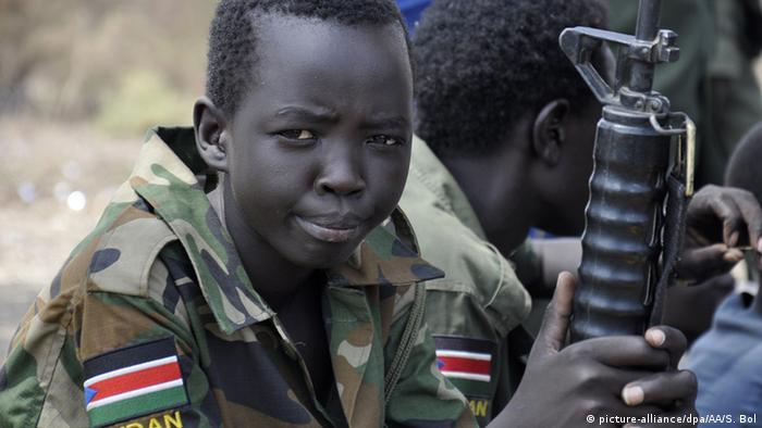 Child soldier from South Sudan