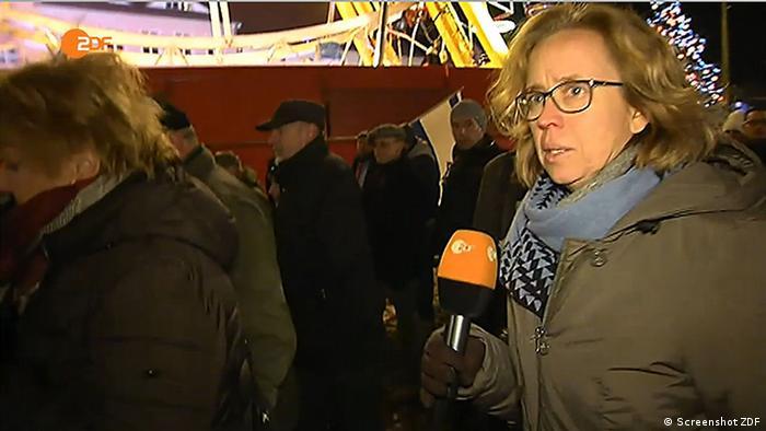 Cottbus Britta Hilpert Reporterin Pegida Demo