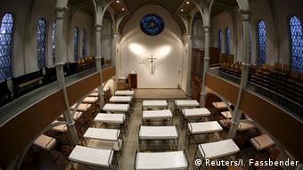 Oberhausen Kirche Flüchtlingsunterkunft betten