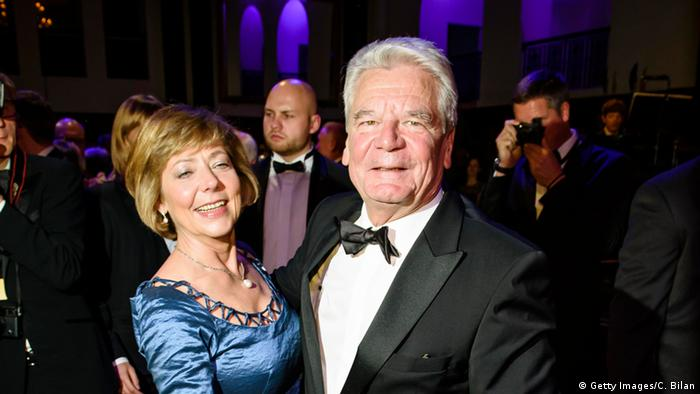 Joachim Gauck with his partner Daniela Schadt