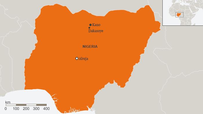 Karte Nigeria Kano Dakasoye