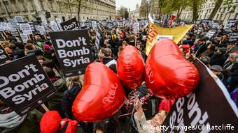 Anti-airstrike protest in London