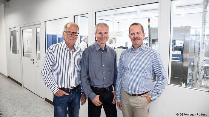 The Infineon engineers, inventors and developers: Lachner, Hartner and Bornefeld