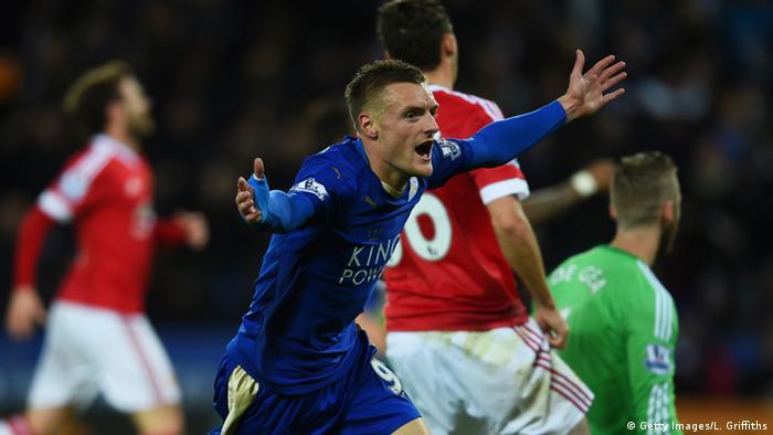 Fußball Manchester United gegen Leicester City Barclays Premier League