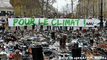 Paris Anti Klimawandel Demonstration am Place de la Republique