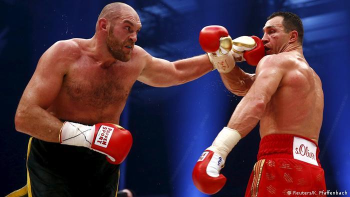 Tyson Fury gegen Wladimir Klitschko Boxen (Reuters/K. Pfaffenbach)