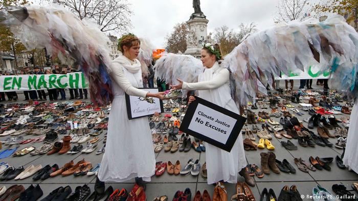 Paris Anti Klimawandel Demonstration Place de la Republique