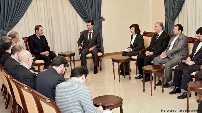 علی اکبر ولایتی در دیدار با بشار اسد بر حمایت ایران در هر شرایطی از سوریه تأکید کرد