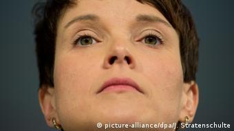 Frauke Petry, presidenta del partido Alternativa para Alemania (AfD).
