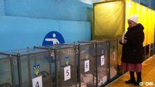 29.11.2015 Regionalwahlen in Mariupol Ukraine. Copyright: DW via Daria Eremina, DW Russisch