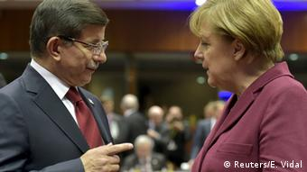 Chancellor Angela Merkel and Turkey PM Ahmet Davutoglu