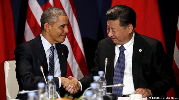 Frankreich Klimagipfel in Paris Obama und Xi