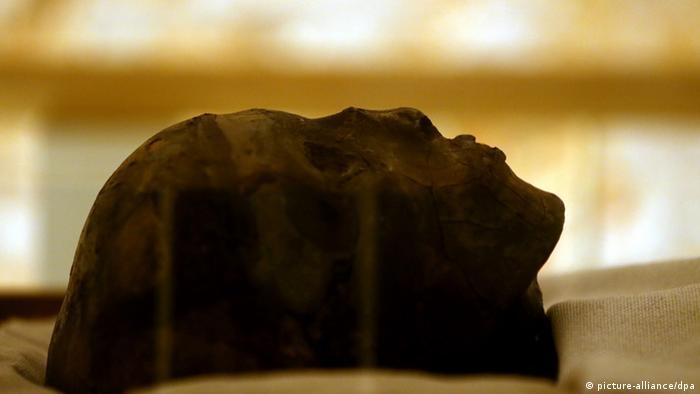 Ägypten Mumie des Tutanchamun bei Luxor