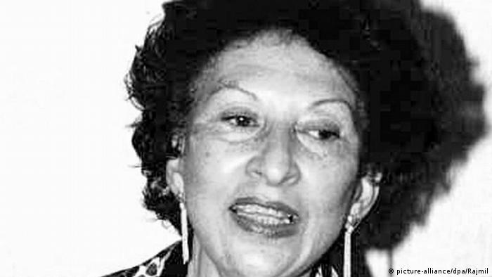 Fatima Mernissi 2003 in New York (Archivfoto: dpa)