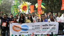 Bangladesch Demo vor dem Klimagipfel in Paris