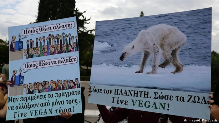 Climate protest in Athens, Greece ahead of COP21 summit in Paris