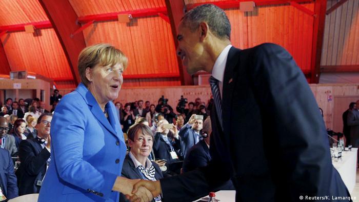 Merkel und Obama beim Klimagipfel in Paris
