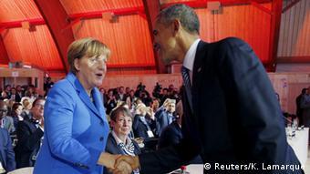 Frankreich Klimagipfel in Paris Merkel und Obama