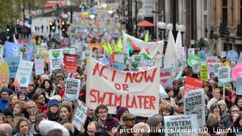 Climate action protest in London