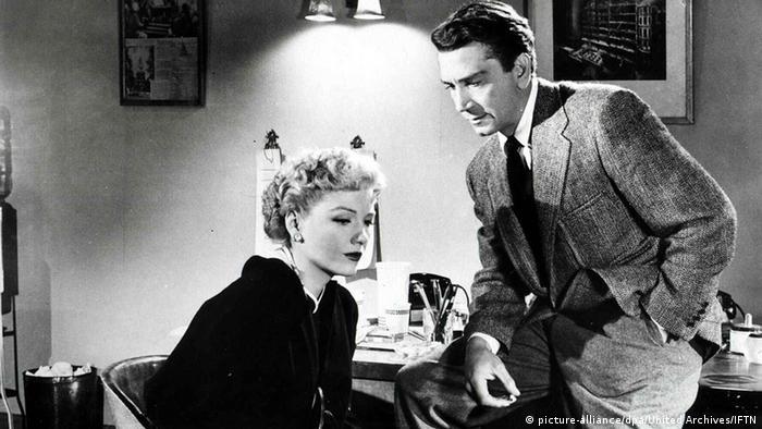 Film still 'The Blue Gardenia': a film scene with Anne Baxter and Richard Conte
