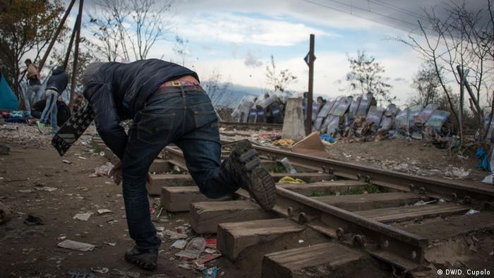 На границе Греции и Македонии