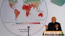 Narendra Modi beim Klimagipfel in Paris
