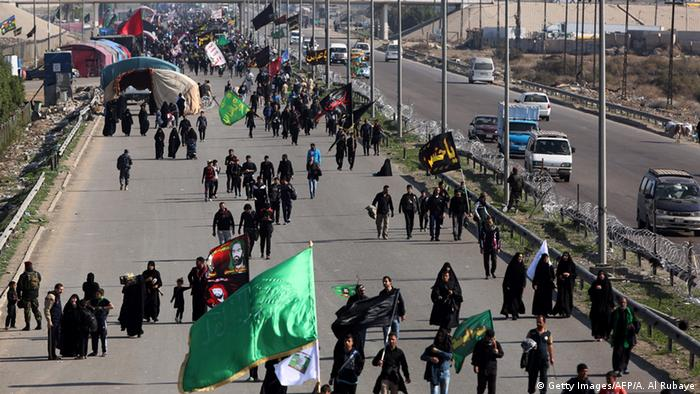 Pilger Grenze Irak Iran Najaf Karbala Shiiten (Getty Images/AFP/A. Al Rubaye)