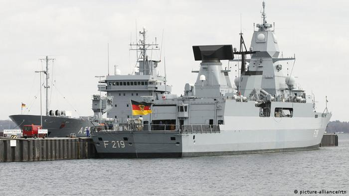 Part of Germany's naval frigate