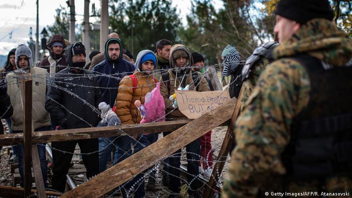 Griechenland Mazedonien Grenze Flüchtlinge