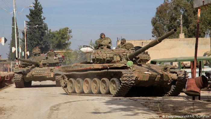 Танки урядової армії Сирії поблизу Алеппо (архівне фото)