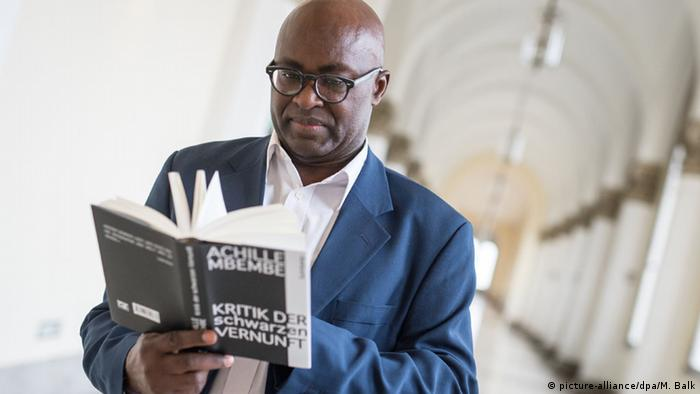 Achille Mbembe with his work 'Critique of Black Reason'