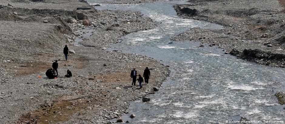 Montanhas de Albroz, no Irã: rios cada vez mais secos
