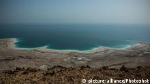 (131229) -- THE DEAD SEA, Dec. 29, 2013 () -- Photo taken on Dec. 28, 2013, shows the shrunken Dead Sea. Israel, Jordan and the Palestinian National Authority signed on Dec. 9, 2013, a landmark agreement in the World Bank headquarters in Washington D.C., on the construction of a pipeline to carry water from the Red Sea to the Dead Sea. The Dead Sea lies between Israel and Jordan, and in the last decades it has considerably shrunken because of excessive industrial use, mainly by mineral-production factories. (/Li Rui)