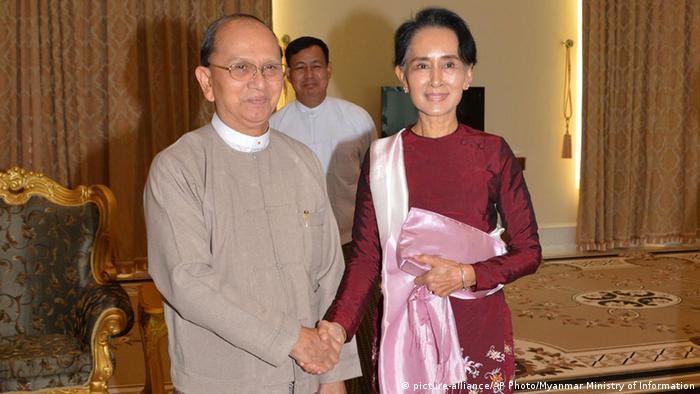 Myanmar Treffen Aung San Suu Kyi und Thein Sein (picture-alliance/AP Photo/Myanmar Ministry of Information)