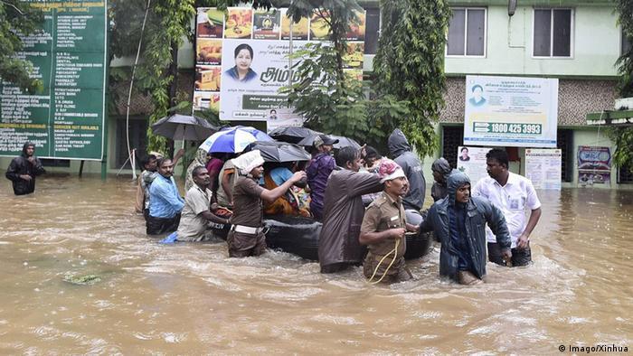 Indien Hochwasser in Chennai (Foto: Imago/Xinhua)