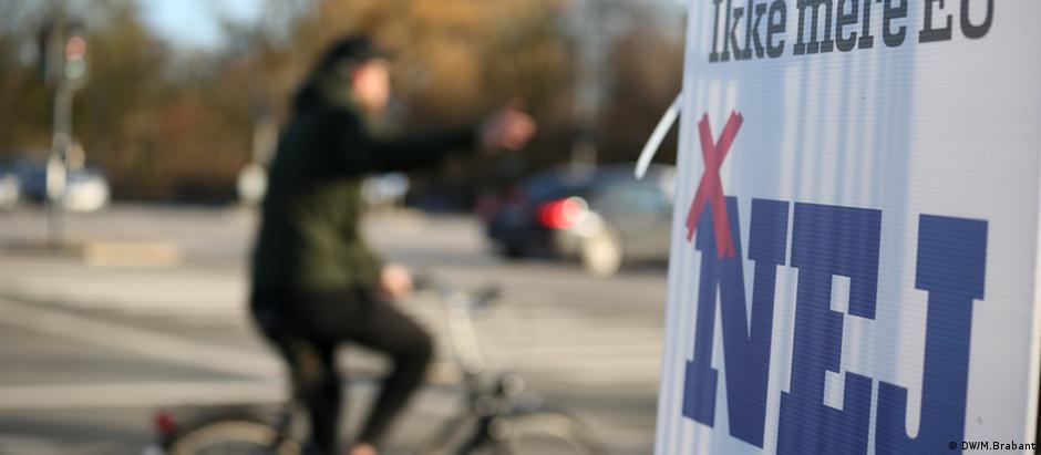 Cartaz da campanha do não em Copenhague