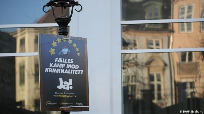 Danish EU referendum placard