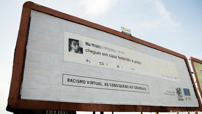 Brasilien Kampagne Racismo Virtual