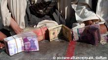 Pakistan Wechselstube auf der Straße
