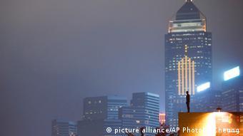 China Kunstinstallation Event Horizon in Hongkong (picture alliance/AP Photo/K. Cheung)