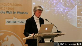 Digital technology can create alternative public spheres, said Professor Schlüter (photo: DW Akademie/Charlotte Hauswedell).
