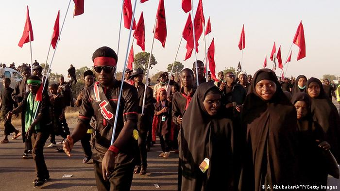 Nigerian Shia Muslims in a procession