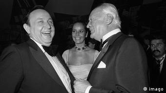 Curd Jürgens und Hans-Dietrich Genscher 1980 (Foto: imago)
