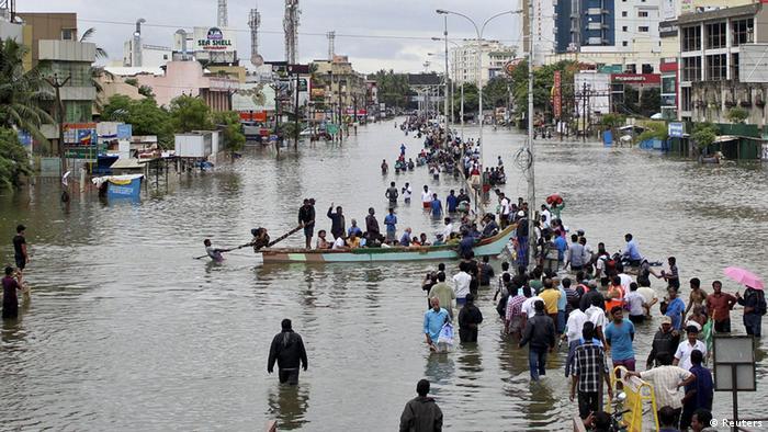 Indien Hochwasser in Chennai