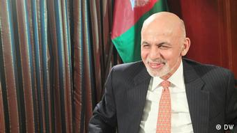 Afghan President Ashraf Ghani is this week's guest on DW's Conflict Zone with Tim Sebastian (Photo: DW)
