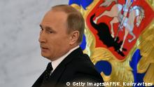 03.12.2015+++ Russian President Vladimir Putin arrives to deliver his annual state of the nation address at the Kremlin in Moscow on December 3, 2015. AFP PHOTO / KIRILL KUDRYAVTSEV / AFP / KIRILL KUDRYAVTSEV (Photo credit should read KIRILL KUDRYAVTSEV/AFP/Getty Images) +++ (C)Reuters/S. Karpukhin