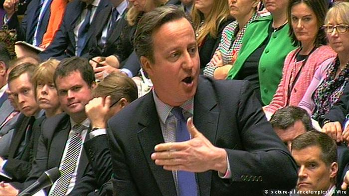 David Cameron im britischen Parlament (Foto: picture-alliance/empics/PA Wire)