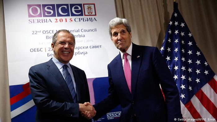 Serbien OSZE Kerry mit Lawrow in Belgrad