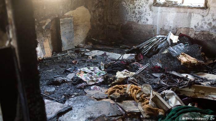 The home of the Dawabsheh family after being torched by Jewish extremists.