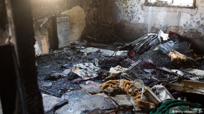Israel Palästina abgebrantes Haus der Familie Dawabsheh in Duma Westjordanland
